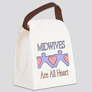 Midwives Are All Heart 2 Canvas Lunch Bag